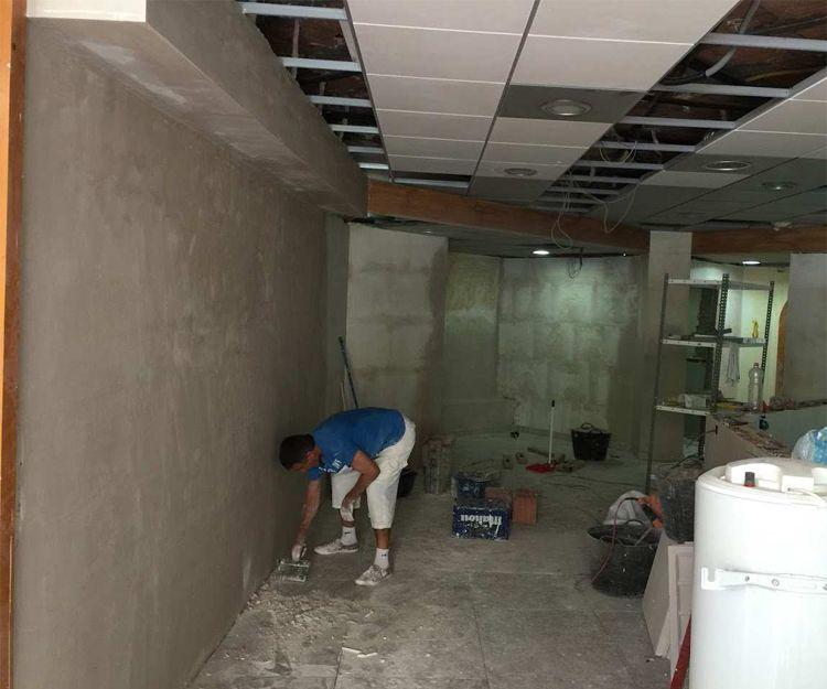 Trabajos de enyesado de paredes