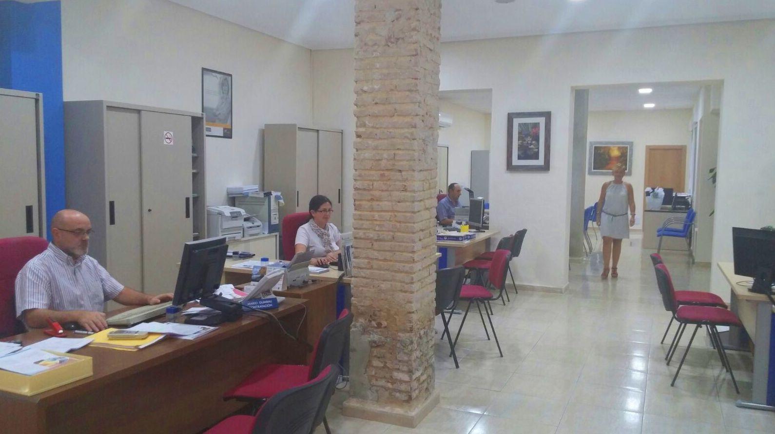 Interior de la oficina en Burjassot