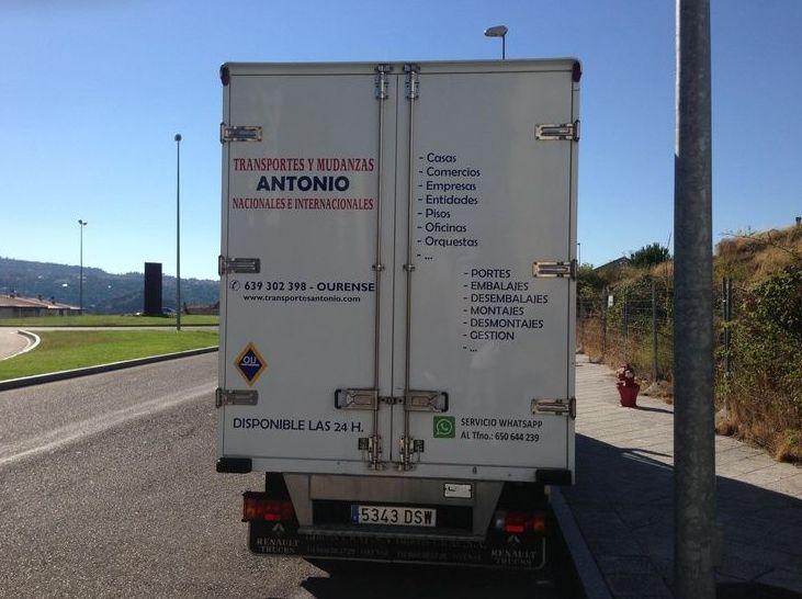 Urgencias: Catálogo de Transportes y Mudanzas Antonio