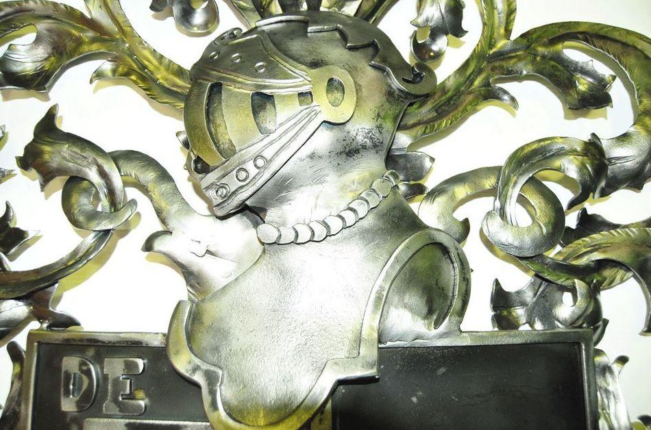 Escudo en forja realizado en Arteforja, Villafranca de los Barros