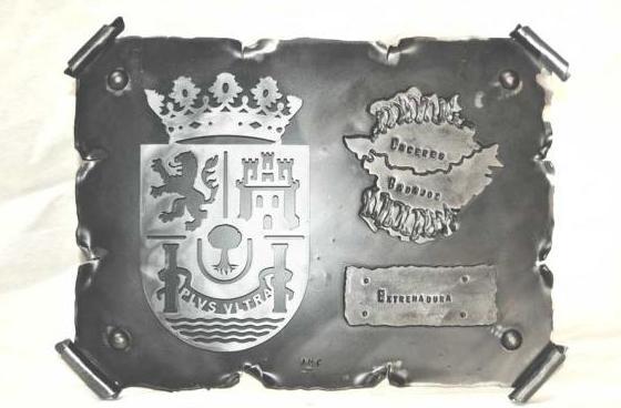 Pergamino de forja escudo Extremadura ref.12027