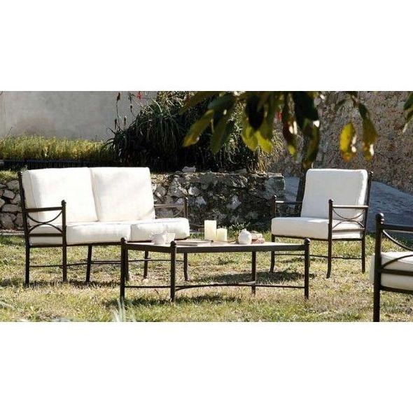 sillón y sofá de forja para jardines