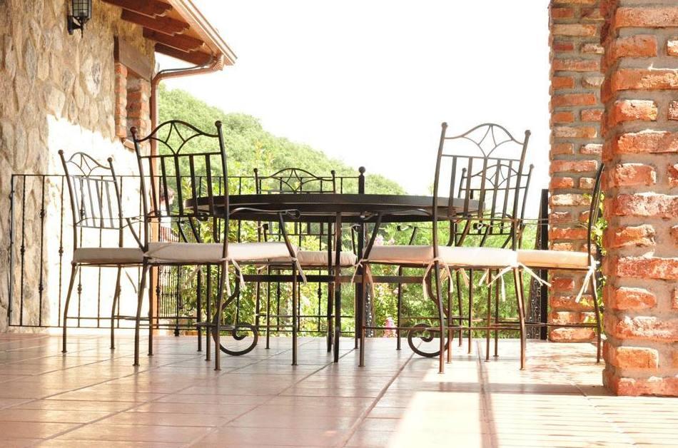 muebles de forja para terrazas