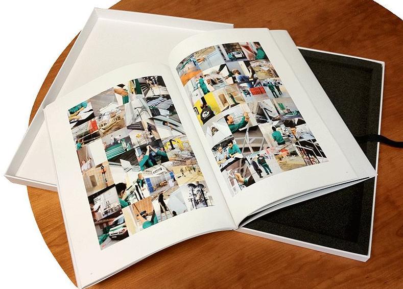 Trabajo impreso en color, encuadernado y presentado con caja.