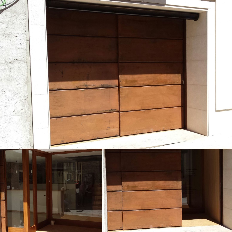 puertas de xapa corten hierro