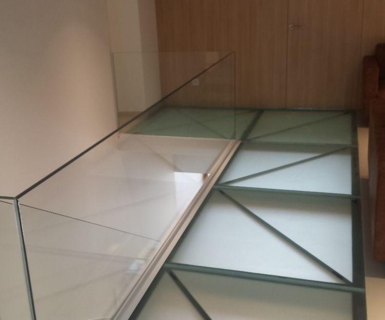 Barandilla de cristal en Tàrrega