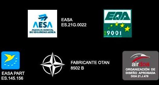 Certificaciones: Servicios de AERONÁUTICA GESTIÓN