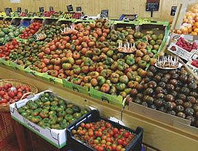 Tienda de verduras y frutas