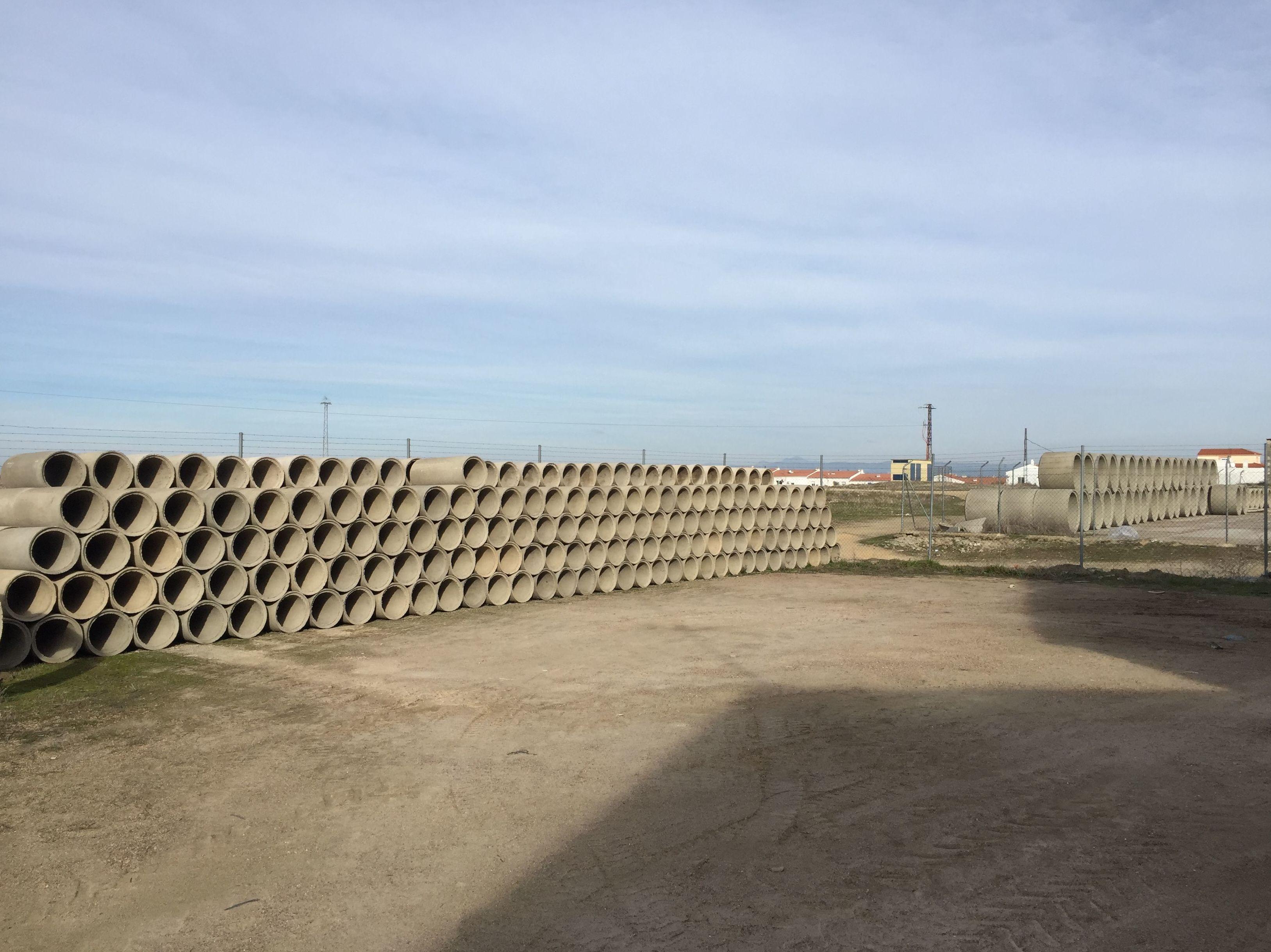 Tubos de hormigón en Extremadura