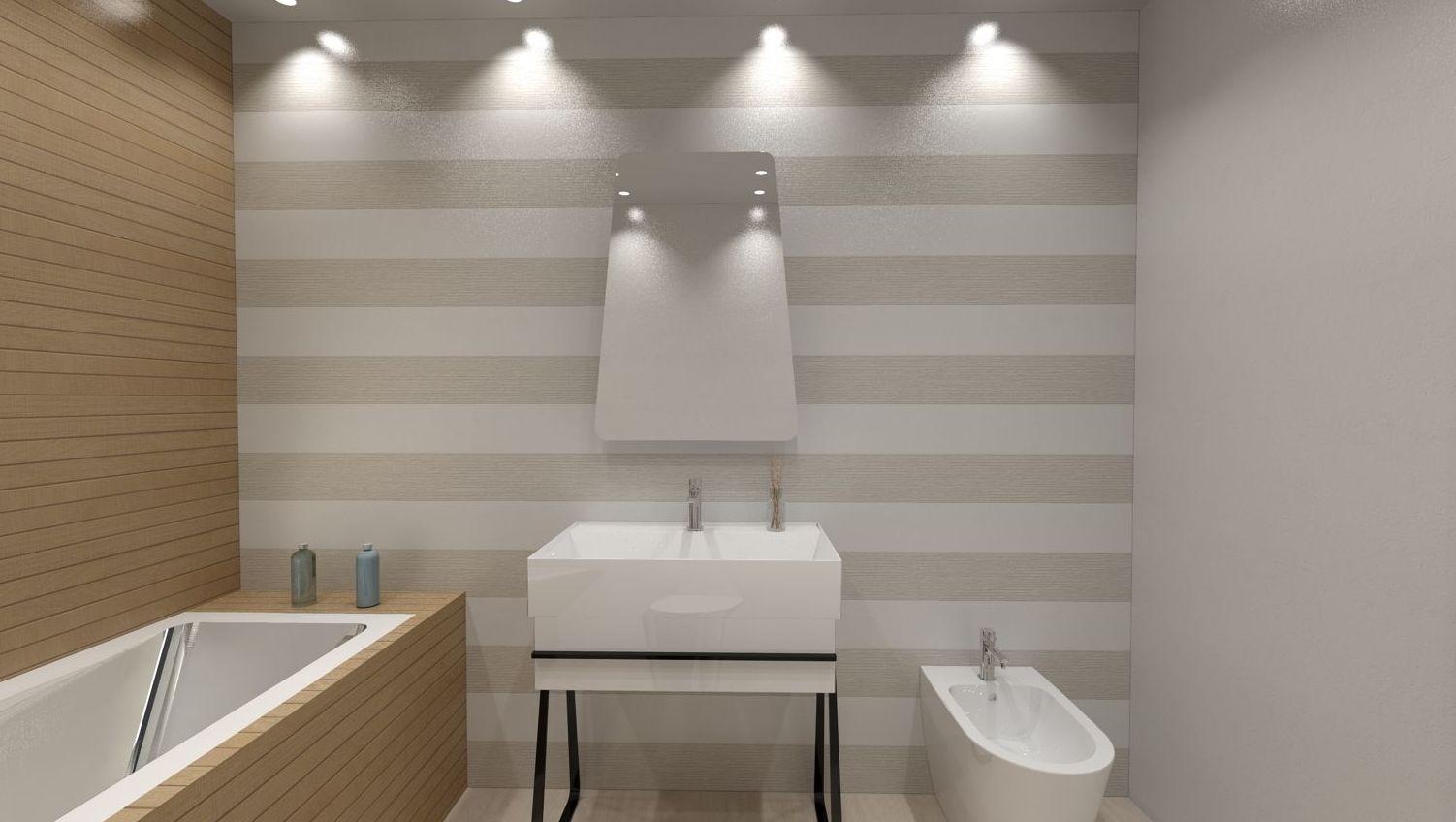 Cuarto de baño estilo vintage y colores naturales