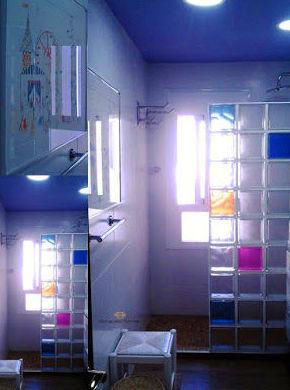 Diseño de color  en el cristal de pavés
