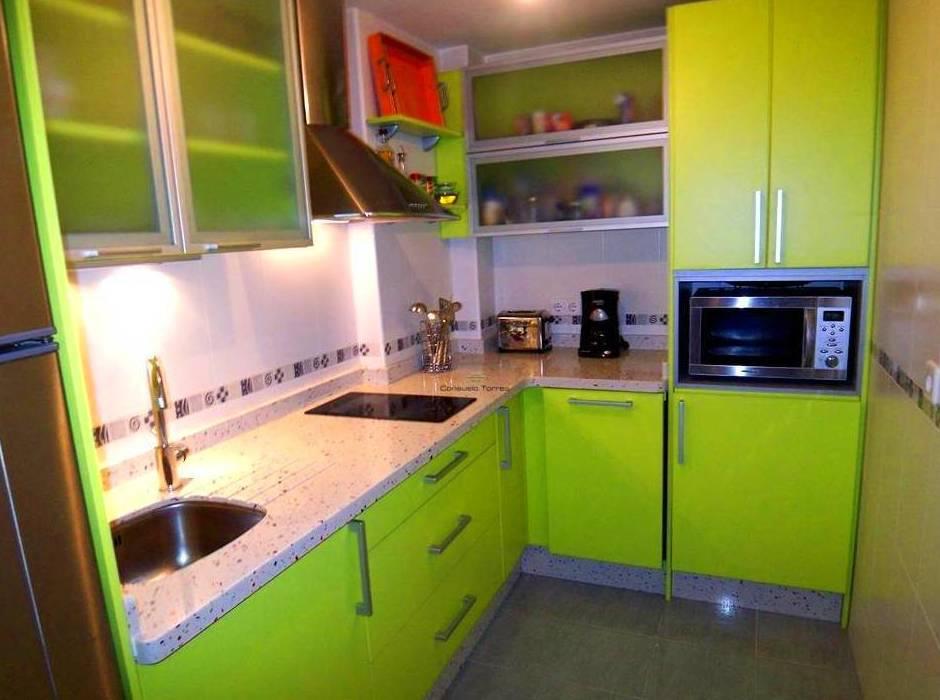 Cocina verde helecho