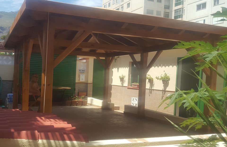 Montaje porches de madera San Cristóbal de La Laguna