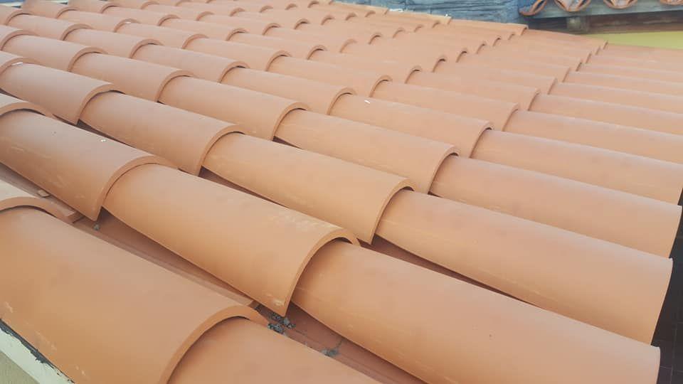 Colocación de tejas San Cristóbal de La Laguna