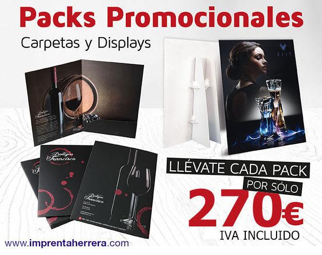 ¡Packs de Carpetas y Displays por sólo 270€!