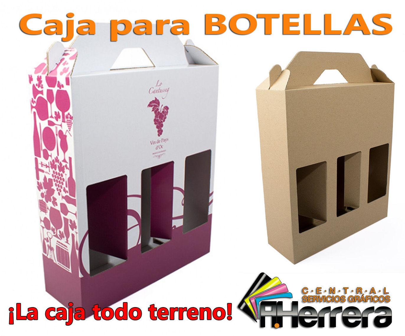 Caja para 3 botellas con ventana