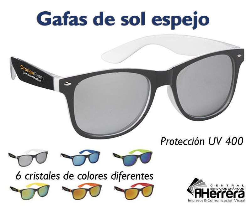 Gafas de sol espejo 6 modelos de cristales de colores