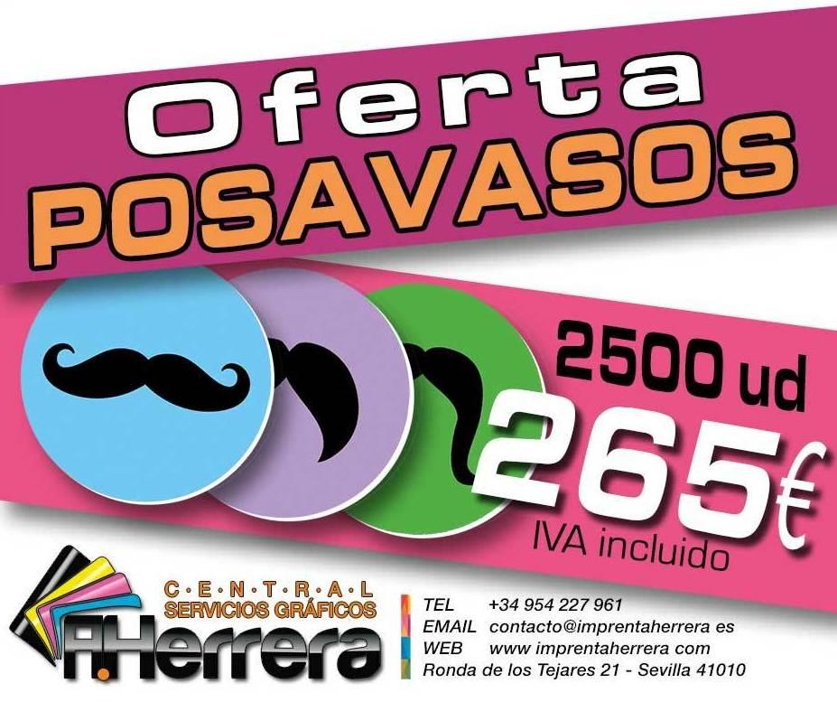 #oferta 2500 Posavasos por 265€