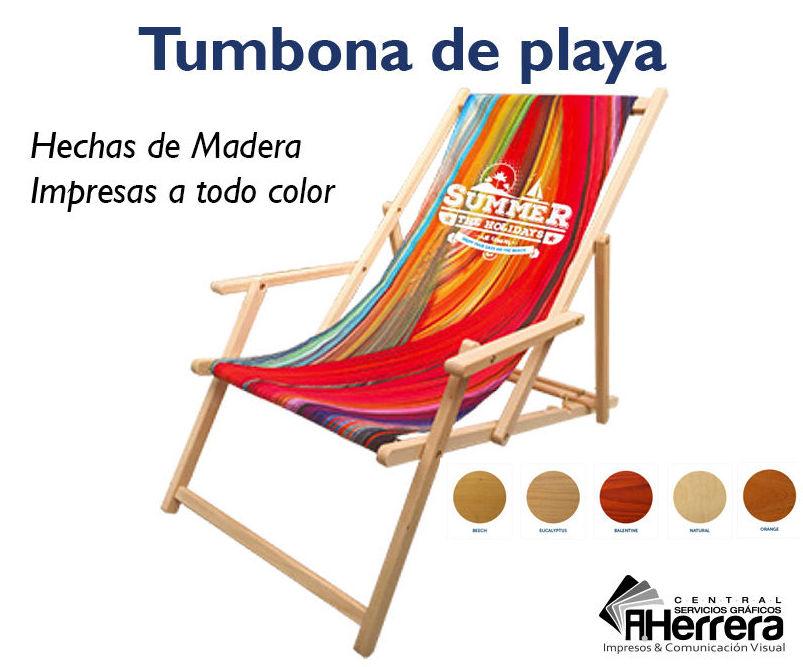 Tumbonas de playa de madera