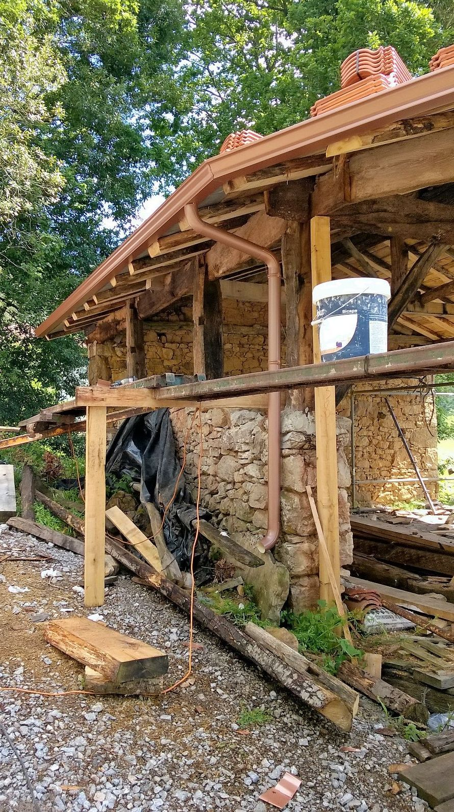 Canalón de aluminio en Asturias