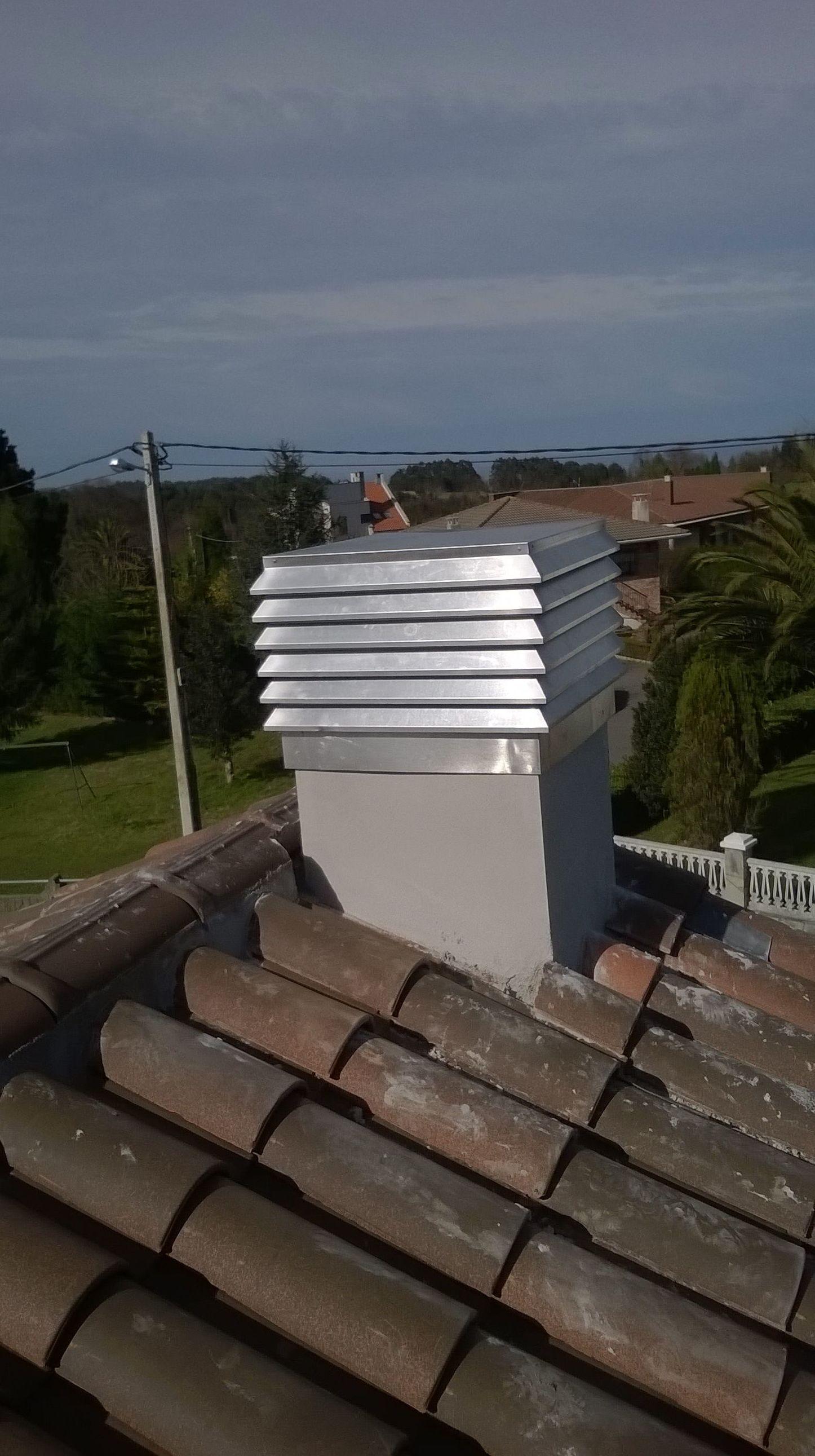 terminacion de chimeneas en Asturias
