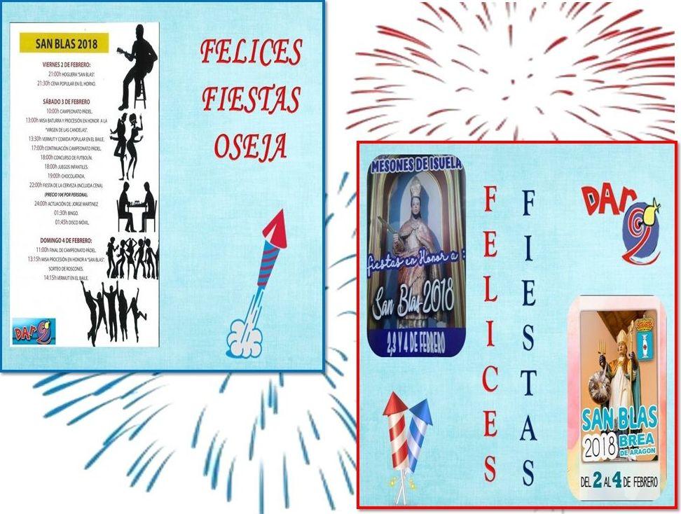 Buenos días! Este fin de semana celebran las fiestas tres pueblos de nuestra comarca, Mesones,Oseja y Brea. Que las disfrutéis mucho, nosotros estaremos en el horario habitual. Recordad que las rebajas terminan este domingo.