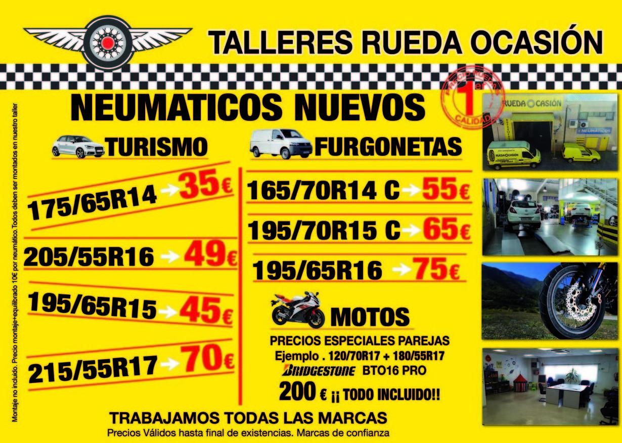 Precios bajos en ruedas nuevas TODO el año en Talleres Colmenar Viejo