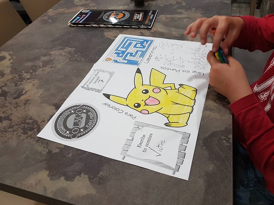 Menú infantil: Carta de Hamburguesería Colagón