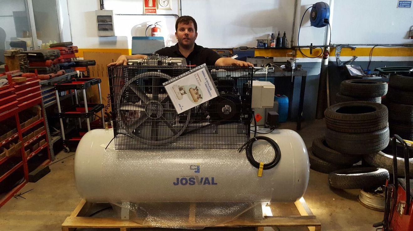Nuevo compresor taller Carrosseries es Castell