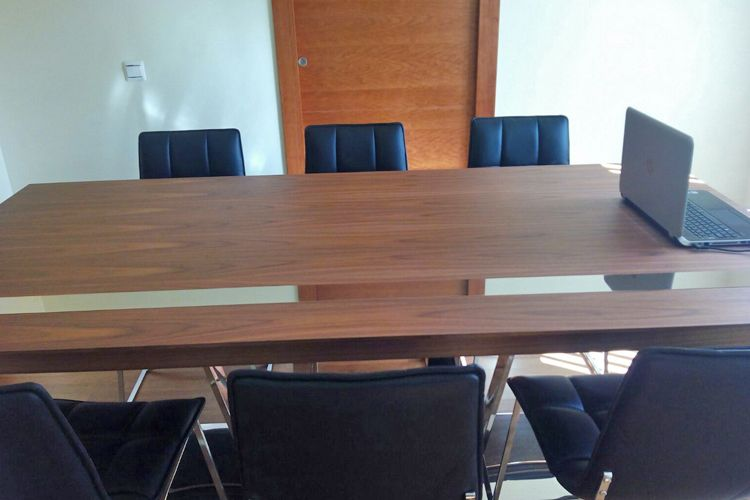 Sala de reuniones del despacho de abogados