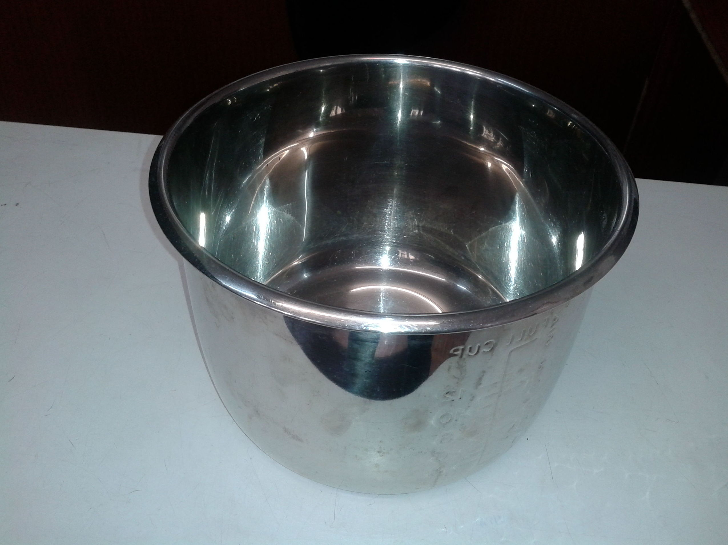 cubeta acero inox 6 litros