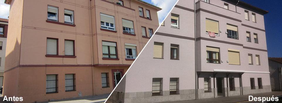 Rehabilitación y conservación integral de edificios : Trabajos realizados de Impermungi, S.L.