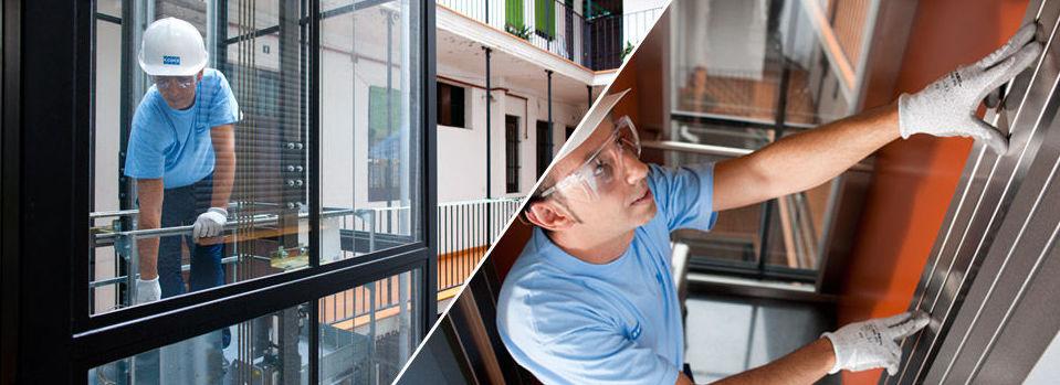 Profesionales en la construcción de ascensores