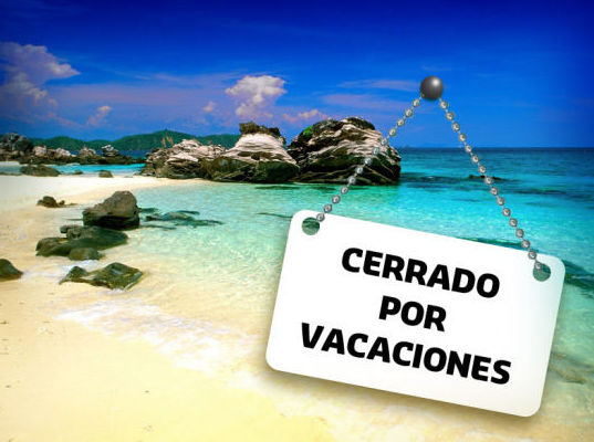 Cerrado por vacaciones