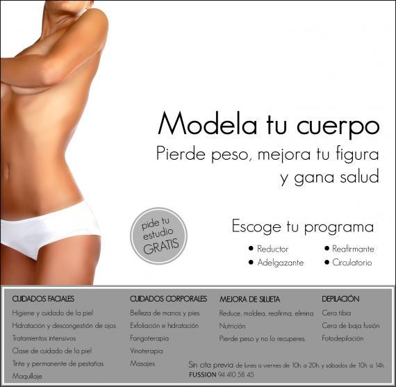 ¡Modela tu cuerpo y pide tu estudio gratis!