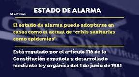 ¿Qué es y qué permite el estado de alarma?