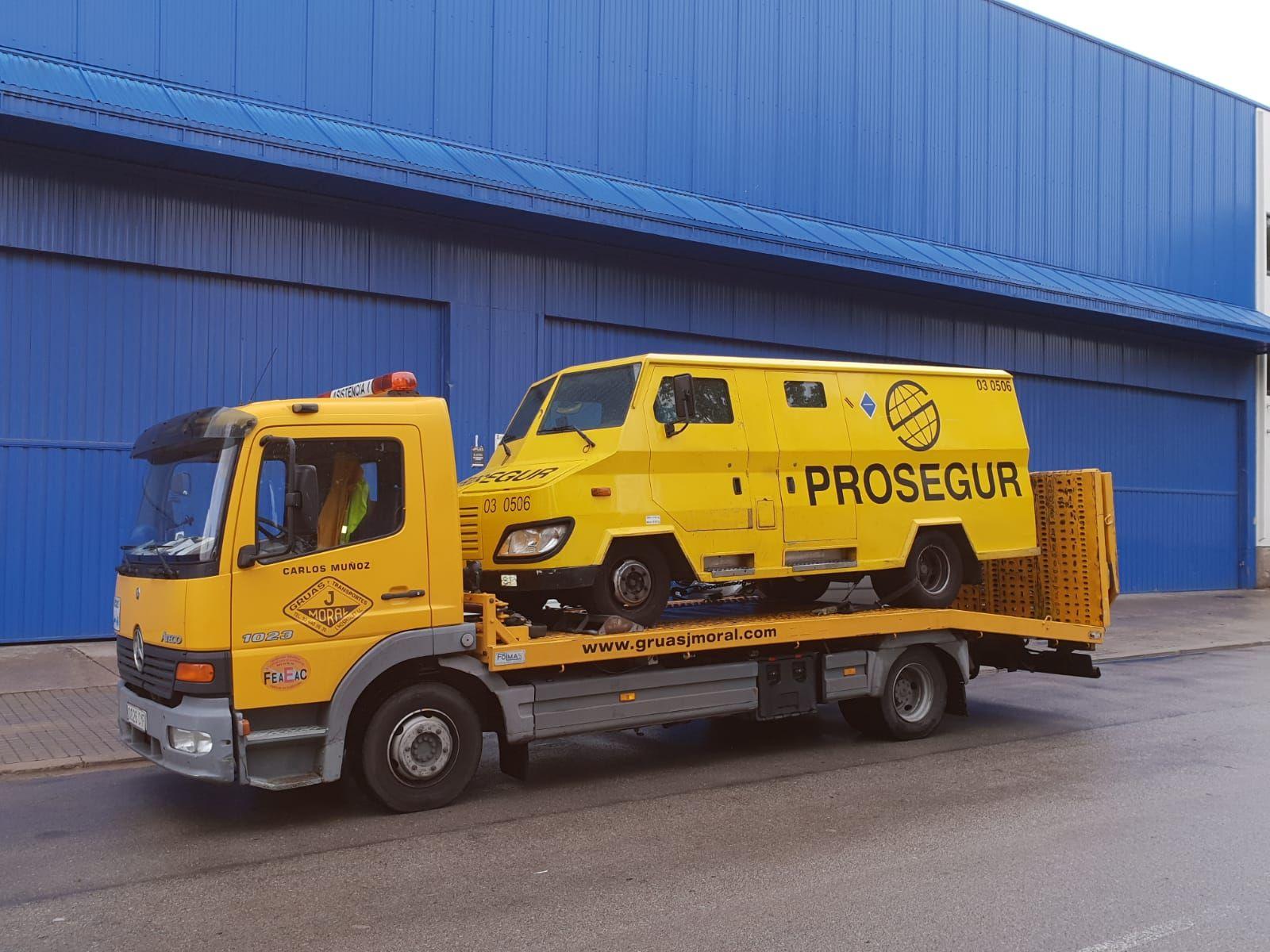 Grúas para vehículos blindados en Barcelona