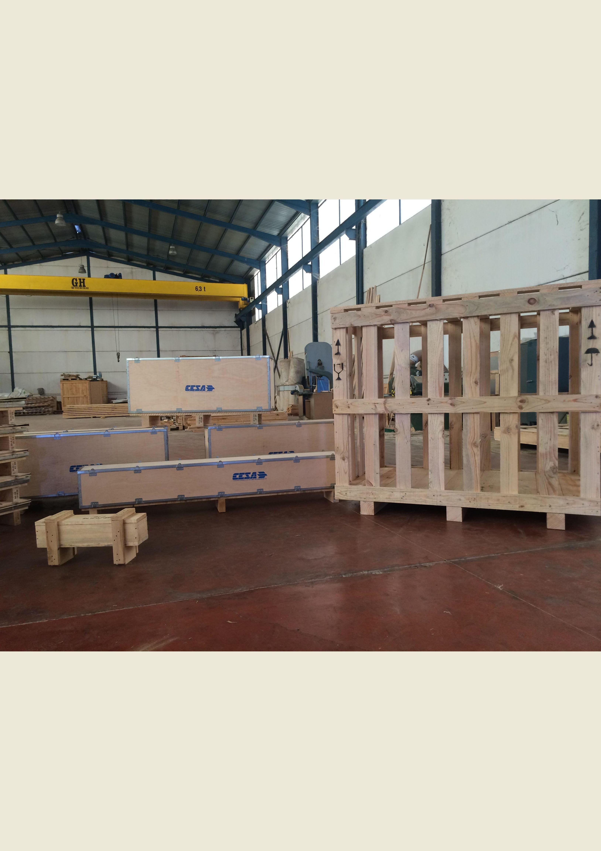 Embalaje Caja. Embalaje Jaula. Embalaje modular con NIMF-15 para exportación