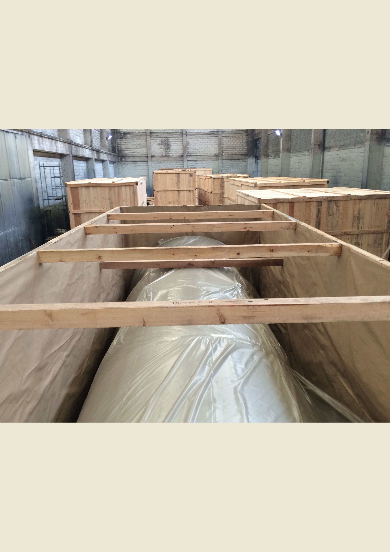 Embalaje tipo caja terrestre preparadas para contenedores