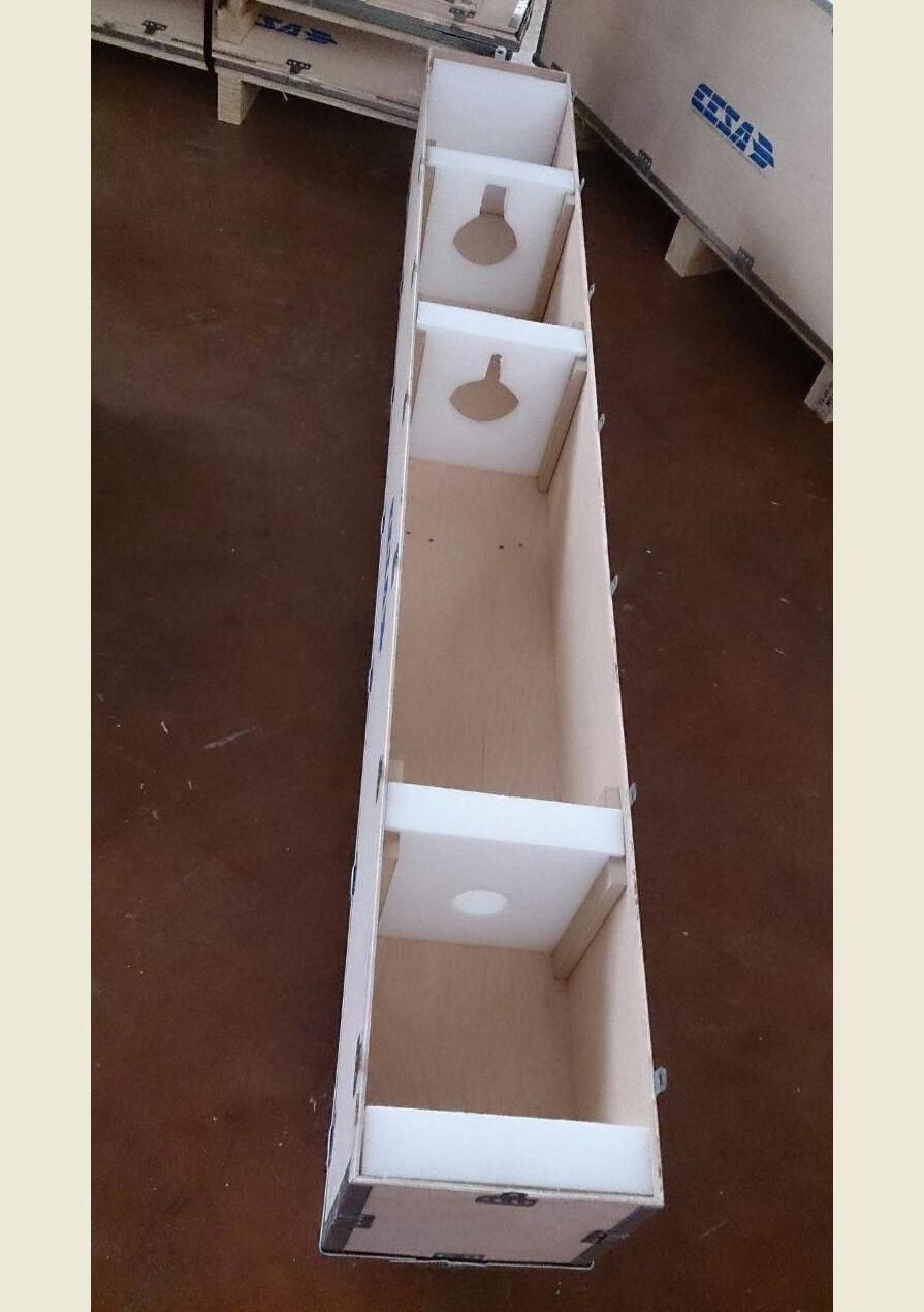 Interior de embalaje modular para piezas muy delicadas