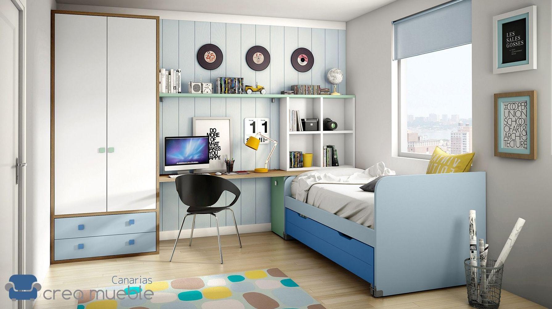 Dormitorio Juvenil IH083: Productos de Crea Mueble