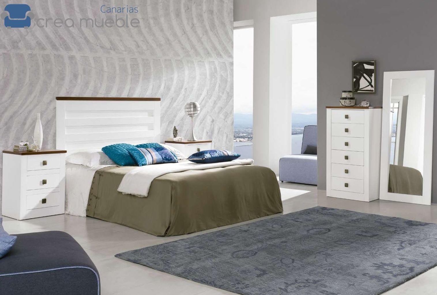 Dormitorio Rústico Serie BOSTON: Productos de Crea Mueble