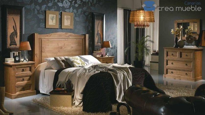 Dormitorio Rústico Serie Vera Cruz: Productos de Crea Mueble