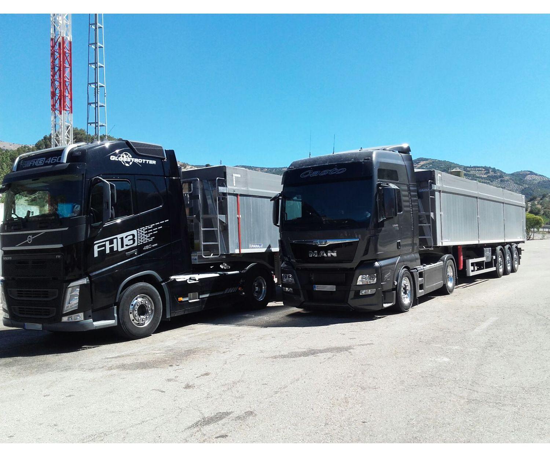 Transporte de áridos y cereales en Granada
