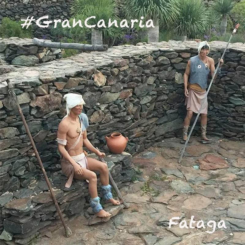 Scenes of Aboriginal daily life in Gran Canaria