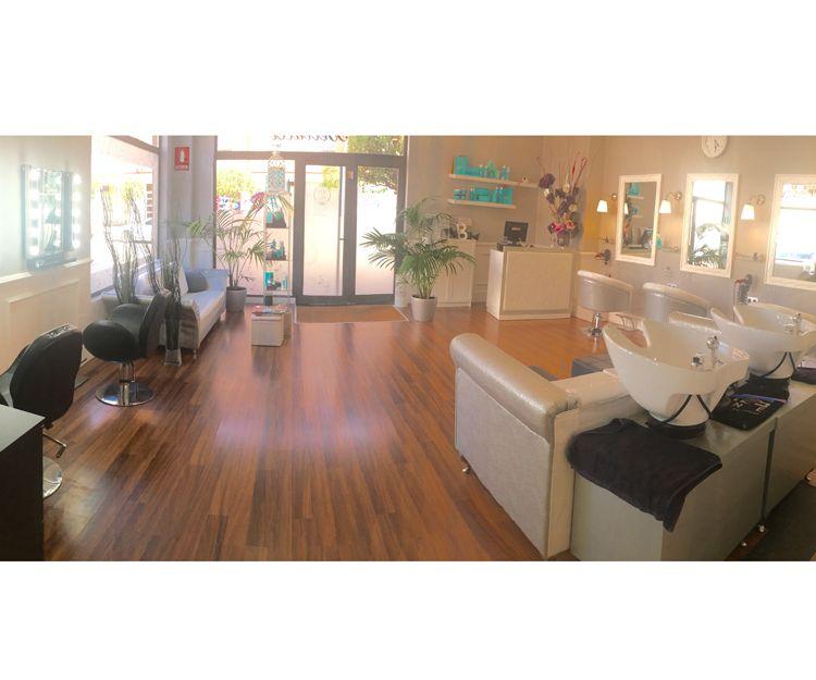 Interior de la peluquería