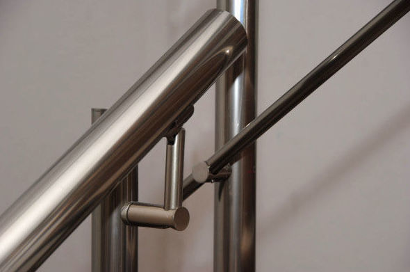 Detalle de barandilla de aluminio Valencia