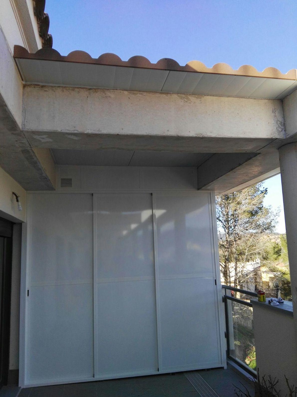 Armario de aluminio para porches Valencia
