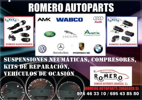 Suspensiones neumáticas y compresores, balonas, kits de reparación...: Suspensiones y vehículos de Romero Autoparts Zaragoza