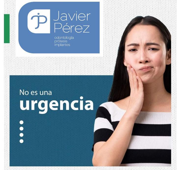 Saber diferenciar cuándo es una urgencia: Servicios   de Clínica Dental Dr. Javier Pérez Martínez